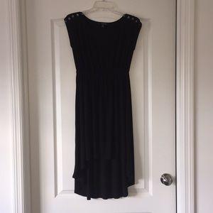 Forever 21 black knit hi-lo cap sleeve dress